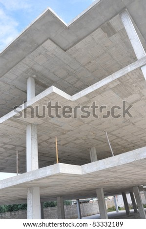 Building Cement Structure Frame