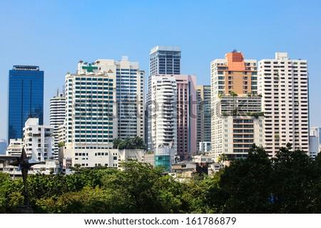 Building Cityscape in Bangkok, Thailand  - stock photo