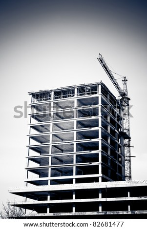 Building Construction site - stock photo