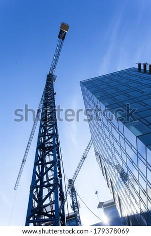 Building construction site detail - stock photo