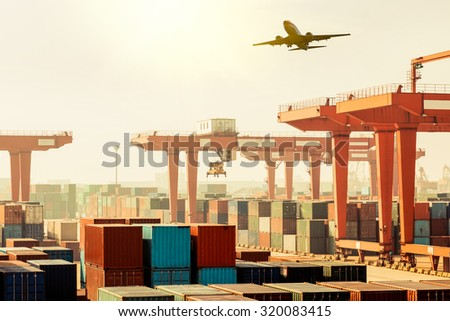 Building containers, cargo containers, residential - stock photo