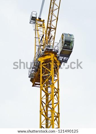Building crane construction - stock photo