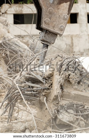 building destroy, material  waste - stock photo