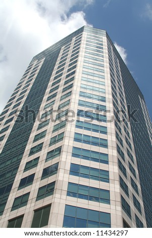 Building Dominating with Leadership of the Skies during the day - stock photo