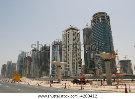 Building Dubai - stock photo