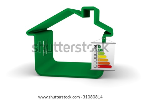 Building Energy Performance A Classification - stock photo