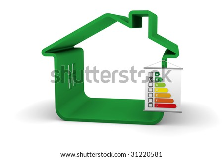 Building Energy Performance B Classification - stock photo
