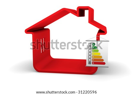 Building Energy Performance G Classification - stock photo