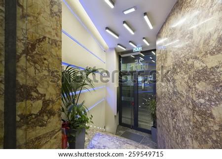 Building entrance  - stock photo