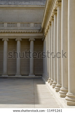 building exterior with detailed columns