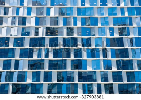 Building Facade with a Blue Glass for Texture.