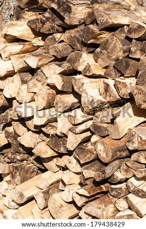 building for fire wood - stock photo