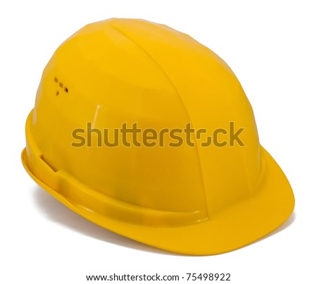 Building helmet isolated on white background