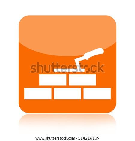 Building house icon - stock photo
