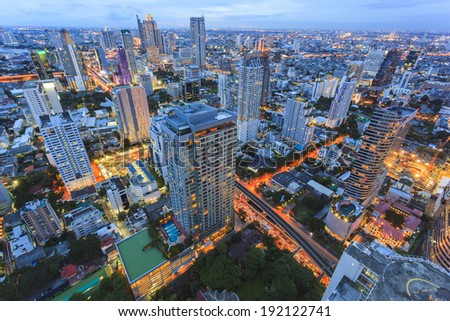 Building in middle of Bangkok, Thailand - stock photo