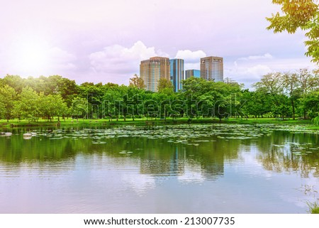 Building in nature - stock photo