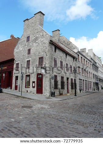 Building in Old Montreal (Vieux Montr�©al) in Quebec, Canada - stock photo