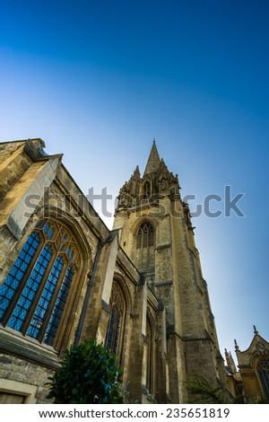 building in Oxford university - stock photo