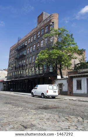 Building in the meatpacking district of New York - stock photo