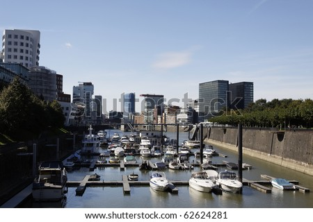 Building in the Media Harbour in D�¼sseldorf, Germany - stock photo
