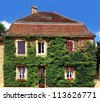 Building in the village of Provence, France - stock photo