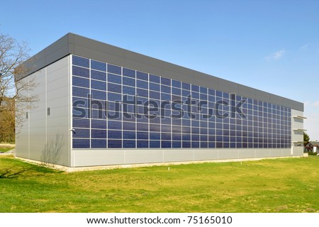 Building integrated photovoltaics - stock photo