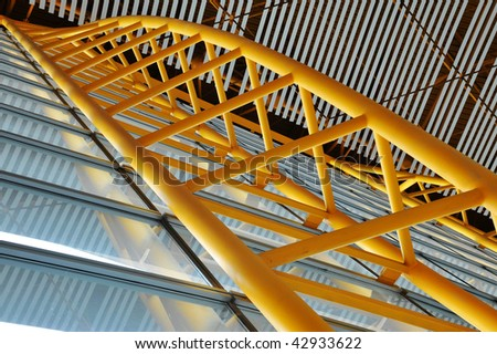 Building interior ceiling and wall structure in airport, beijing, china