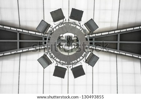 building Lamp Suspension Ceiling - stock photo
