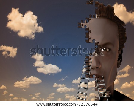 Building Man - stock photo