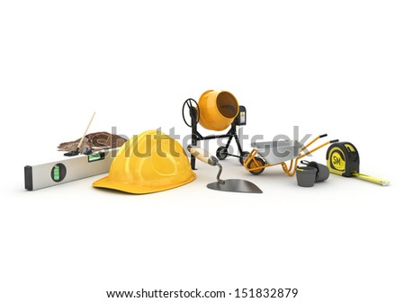 building materials - stock photo