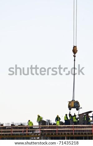 Building of a skyscraper - stock photo