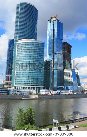 Building of new business-center in Moscow