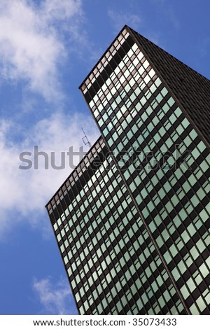 building of offices in the sky of london - stock photo