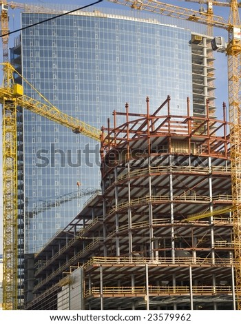 Building of skyscrapers - stock photo