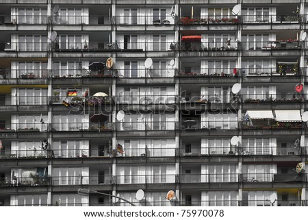Building of  socially deprived people living inside - stock photo