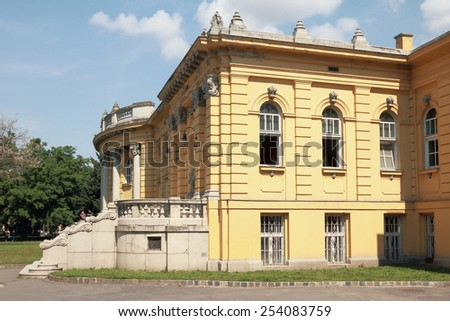 Building of  swimming bath of Secheni. Budapest, Hungary - stock photo