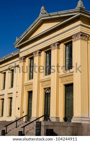 Building of the Norwegian University  Oslo, Norway - stock photo