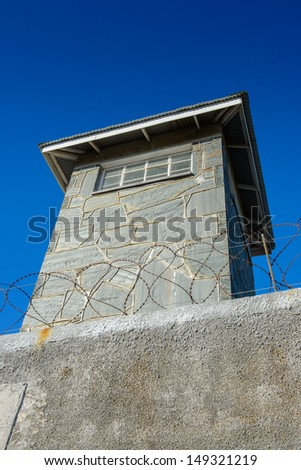 Building of the Prison on the Robben Island, South Africa, where the President of South Africa Nelson Mandela was imprisoned. UNESCO World heritage - stock photo