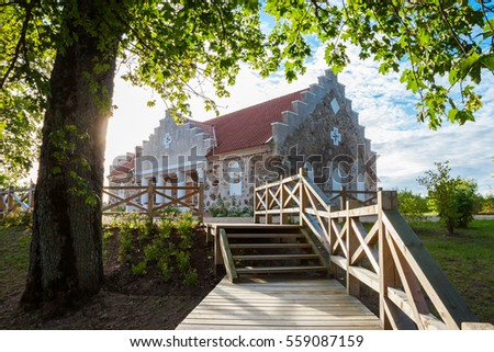 Building of Turaida parish magazine. Old granary house in Turaida, Latvia