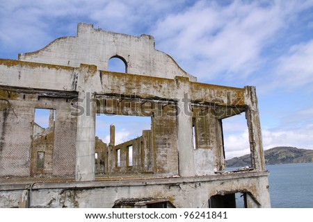 building on Alcatraz Island