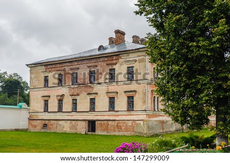Building on the territory of the Old Ladoga monstery in Russia, St, Petersburg area