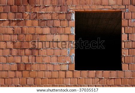 Building operations with brick - stock photo