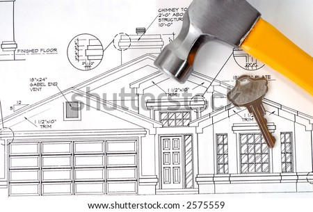 Building Our New Home - stock photo