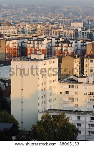 Building paris - stock photo