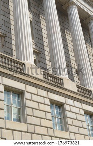 Building Pillars - stock photo