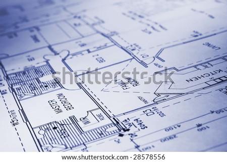 building plans - stock photo