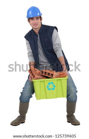 Building recycling material - stock photo