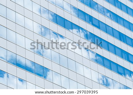 Building Reflection glass with sky