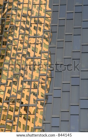 Building Reflections - stock photo