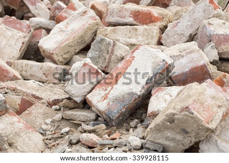 Building rubble and stones / Stones - stock photo